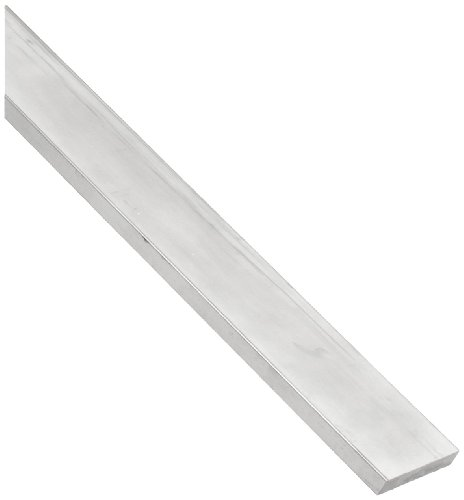 7075 Aluminum Rectangular Bar, Unpolished (Mill) Finish, 1/4
