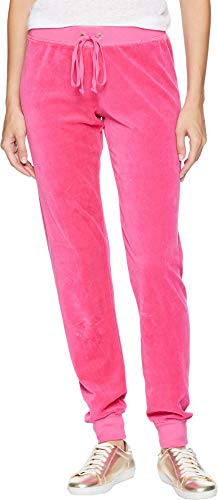 Juicy Couture Women's Velour Zuma Pants Couture Pink Large 30.5