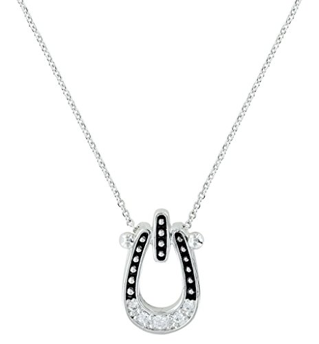Montana Silversmiths Studded Ice Horseshoe Necklace – NC3022