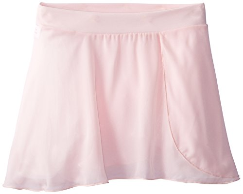 Capezio Big Girls' Tactel Collection Pull-On Skirt, Pink, Intermediate (6-8)