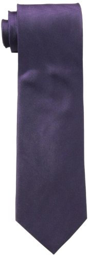 Calvin Klein Men's Silver Spun Solid Tie