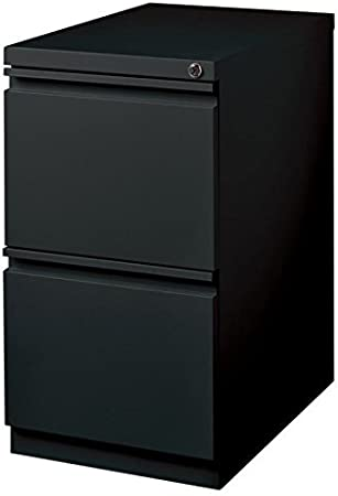 Pemberly Row Mobile 3 Drawer File Cabinet in Black