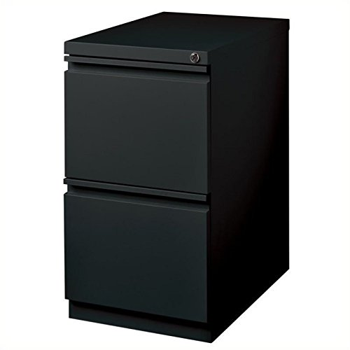 Pemberly Row 2 Drawer Mobile File Cabinet File in Black by Pemberly Row