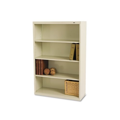 Tennsco B53PY 34-1/2 by 13-1/2 by 52-1/2-Inch Metal Bookcase with 4 Shelves, Putty Tennsco Steel Bookcases