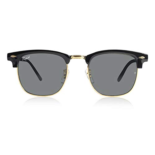 7260eb742d Resist Clubmaster Sunglasses - Unisex - Black Lens with 100% UV Rays  Protection (Free