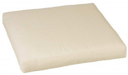 Premium Lounge Sitzkissen 80 cm x 80 cm in der Farbe cremeweiß mit Reißverschlüssen für Rattan Gartenmöbel