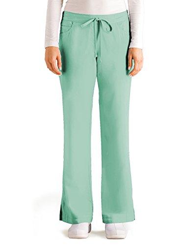 Grey's Anatomy 4232 Tie Front Pant Aqua Mist L
