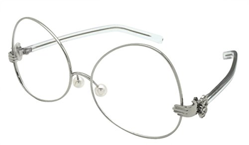 Edge I-Wear Upside Down Vintage Style Frames w/Clear Lens - Artsy Sunglasses