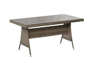 Tisch 150x80.Ravello Tisch 150 X 80 Cm Grau Amazon De Küche Haushalt