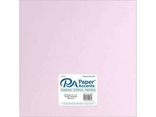 (Paper Accents Cardstock 65 lb Mauve Ice Smooth, 12