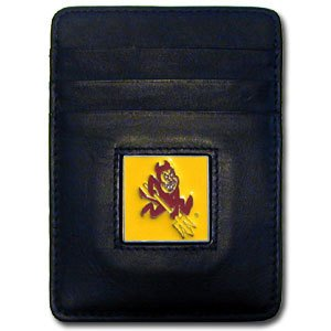 Arizona State Credit Card - NCAA Arizona State Sun Devils Leather Money Clip/Cardholder