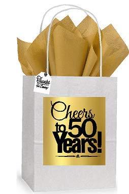 Amazon 50th Cheers Birthday Anniversary White And Gold Themed