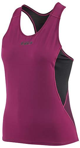Louis Garneau Women's Tri Comp Lightweight, Moisture Wicking, Sleeveless Triathlon Bike Top, Black/Pink/Purple, Medium