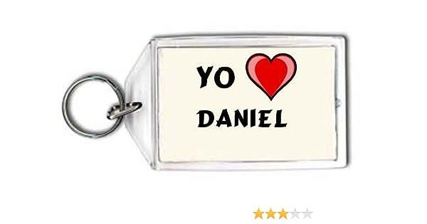 Shopzeus Llavero con Estampado de Te Quiero Daniel (Nombre de Pila/Apellido/Apodo)