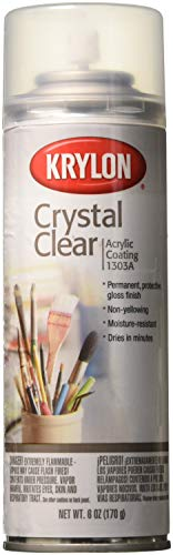 Krylon K01303A07 Crystal Clear Acrylic Coating Aerosol Spray, 6 - Finishing Paint