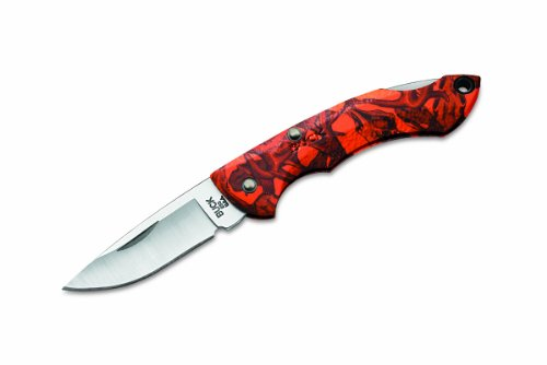 Buck Knives 283 Nano Bantam Folding Pocket Knife with Orange Head Hunterz Handle