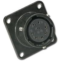 Amphenol Industrial PT02E-12-3P Circular Connector Pin, Environmental Resisting, Bayonet Coupling, Solder Termination, Box Mounting Receptacle, 12-3 Insert Arrangement, 12 Shell Size, 3 Contacts