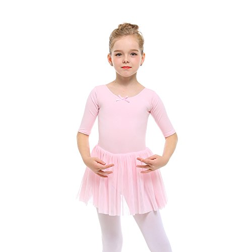 STELLE Toddler/Girls Cute Tutu Dress Leotard for Dance, Gymnastics and Ballet(S, Ballet Pink) ()
