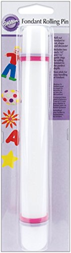 Rolling Stick Wilton Pin Non (Wilton Fondant Gum Paste Rolling Pin with Rings, 9 Inch)