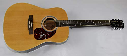 John Mellencamp Small Town Signed Autographed Full Size Wood Acoustic Guitar Loa