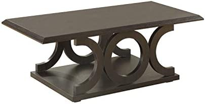 C-Shaped Coffee Table Cappuccino - the best living room table for the money
