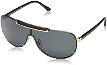 Versace Men's VE2140-100287-40 Gold Shield Sunglasses