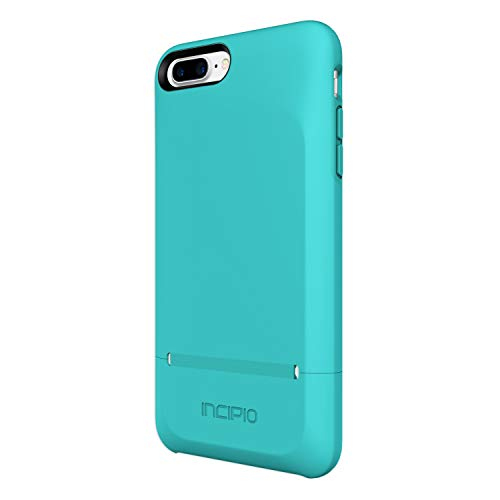 Incipio Stashback iPhone 8 Plus & iPhone 7 Plus Case with Credit Card Slot Holder and Foldable Back Panel for iPhone 8 Plus & iPhone 7 Plus - Turquoise