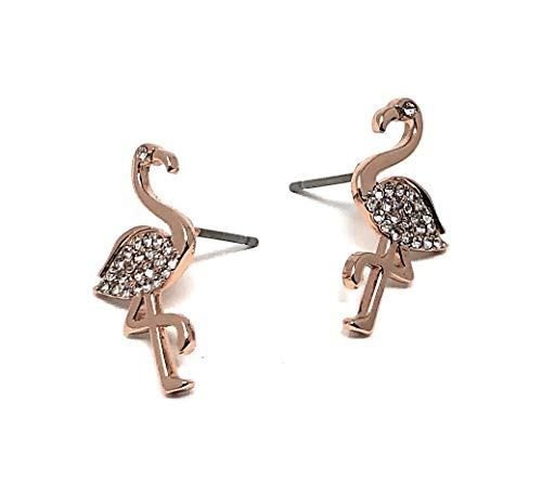 Kate Spade New York Stud Earrings by The Pool O0RU2785 Rose Gold Flamingo