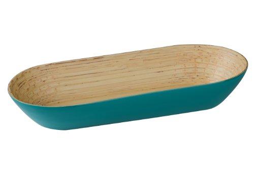 Premier Housewares Kyoto Spun Bamboo Oblong Bowl - 7 x 38 x 15 cm, ()