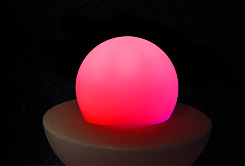 Rechargeable LED Lighting Outdoor RGBW Mixing Color Changing Glow Ball Adjustable Wireless Remote Control Mood Lamp Children Movable Romantic Night Light for Bedroom, Camping, Kids(1 Pack)