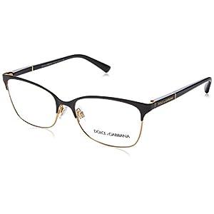 Dolce & Gabbana Logo Plaque Eyeglasses DG1268 025 Black/Gold 54 16 140