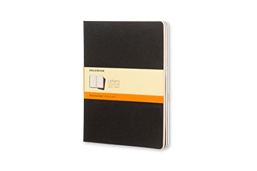 Moleskine Cahier Journal (Set of 3), Extra Large, Ruled, Black, Soft Cover (7.5 x 10) by Brand: Moleskine