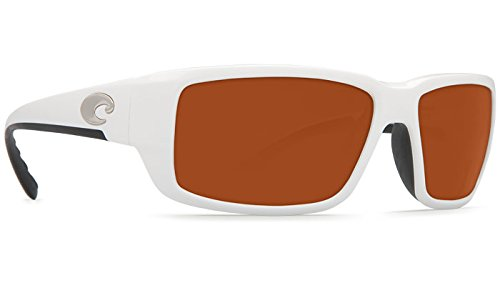 Costa Del Mar Fantail Sunglass, White/Copper - Sunglass Com Warehouse
