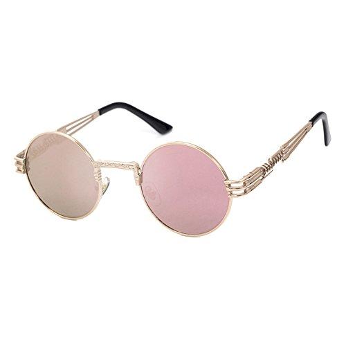 Aoligei Style européen général film de couleur métal creux siamois lunettes de soleil à la mode hommes et femmes lunettes de soleil tendance tr7fT1
