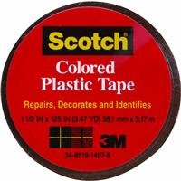Tape Plastic Brown - Scotch Colored Plastic Tape