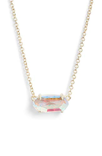 - KendraScott Ever Dichroic Glass/Gold Pendant Necklace