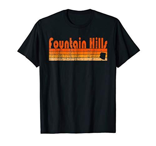 Retro 80s Style Fountain Hills AZ T-Shirt