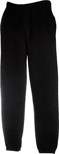 Fruit Of The Loom Mens Elasticated Cuff Jog Pants/Jogging Bottoms (M) (Black)