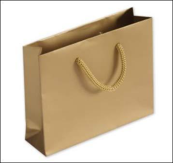 """Matte Laminated Mini Euro-Totes, Goldm 5 3/8"""" x 1 1/2"""" x 4 1/4"""", 20 Bags"""