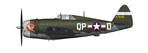 Thunderbolt P-47d Fighter (Hobby Master HA8450B Flown by Ace Col. Steve Pisanos: WWII Die Cast Model Fighter P-47D Razorback a Republic P-47 Thunderbolt in 1/48 Die Cast; by Hobby Master)