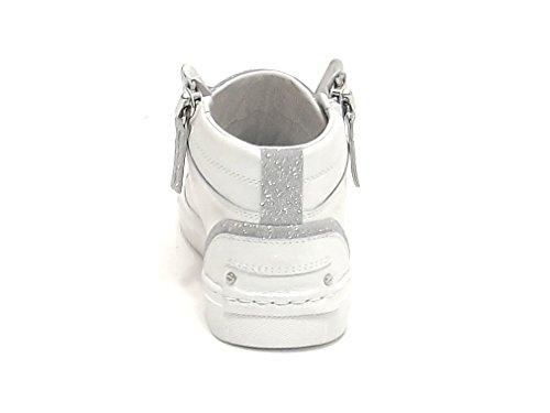 Crime Donna, 25245, Sneakers Pelle Perlata Bianca E8102