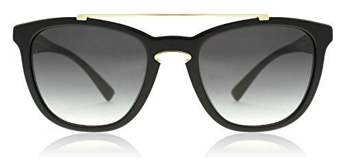 Valentino Women's VA 4002 Black/Light Gold/Grey Gradient Sunglasses -
