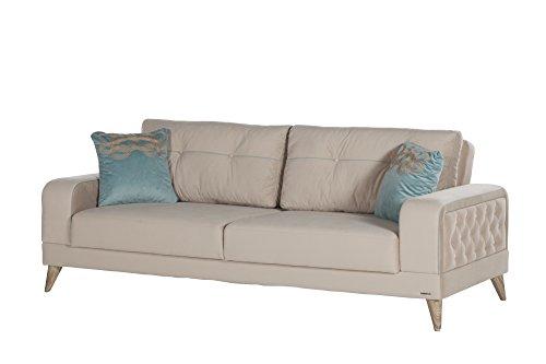 ISTIKBAL Multifunctional Living Room Sofa Sleeper VIENZA Collection Cream