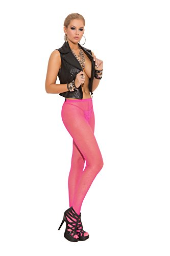 Womens Pink Fishnet Pantyhose Tights
