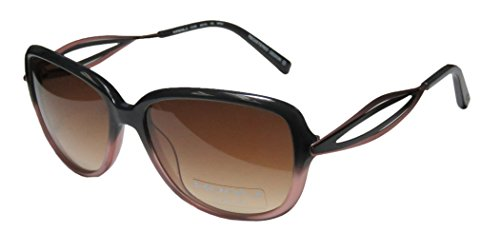 Koali 7177k Womens/Ladies Designer Full-rim Gradient Lenses Sunglasses/Eyewear (55-16-135, Dark Gray / Rose / - Sunglasses Koali