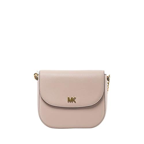 (MICHAEL Michael Kors Mott Pebbled Leather Dome Crossbody (Soft Pink))