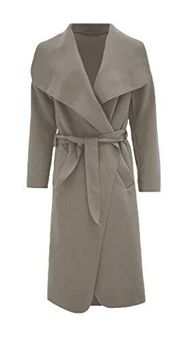 Oversize Waterfall Hilton Women's Italian George Long Coat Duster Charcoal SWE7xnvwq