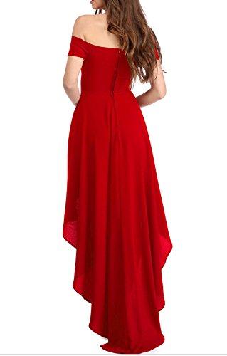 YaoDgFa Sexy Damen Kleider Abendkleid Cocktailkleid Partykleid Kleid  Ballkleid Knielang Festlich Kurzarm Off Schulter Lang Maxi ... 0268ea4105
