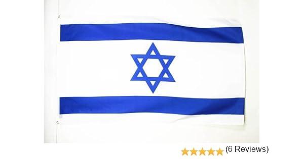 AZ FLAG Bandera de Israel 250x150cm - Gran Bandera ISRAELÍ 150 x ...