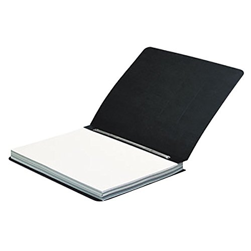 25971 8 1/2'' x 11'' Black Pressboard Side Bound Report Cover with Prong Fastener - 3'' Capacity by TableTop King (Image #1)